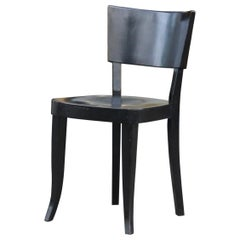 Josef Frank Side Chair in Black Lacquered Beechwood Made by Thonet