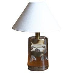 Josef Frank, Table Lamp, Blown Glass, Brass, Svenskt Tenn, Sweden, 1960s