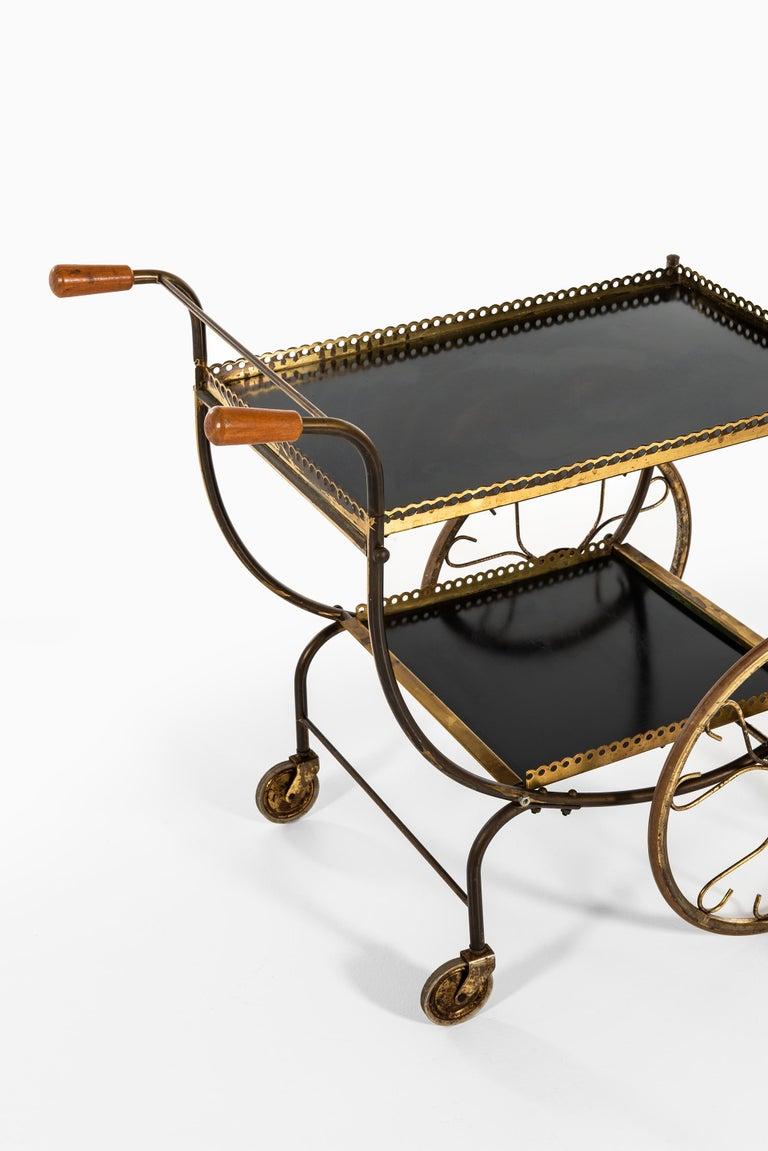 Rare trolley designed by Josef Frank. Produced by Svenskt Tenn in Sweden.
