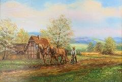 The Ploughman - Austrian Realist Painting