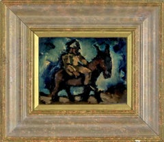 Man with a Donkey oil painting by artist Josef Herman