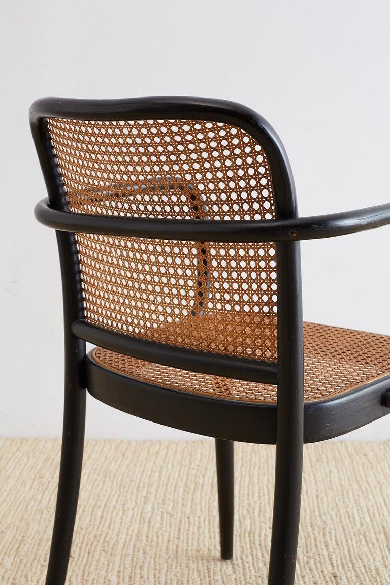Josef Hoffman for Stendig Black Bentwood Prague Chairs For Sale 8