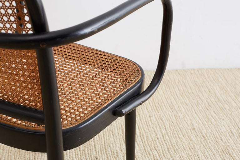 Josef Hoffman for Stendig Black Bentwood Prague Chairs For Sale 9
