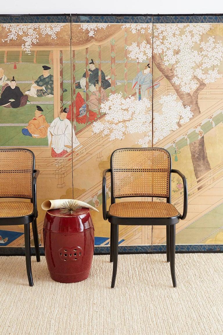 Mid-Century Modern Josef Hoffman for Stendig Black Bentwood Prague Chairs For Sale