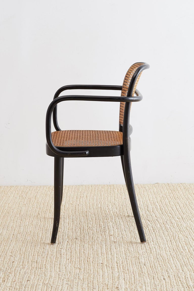 20th Century Josef Hoffman for Stendig Black Bentwood Prague Chairs For Sale