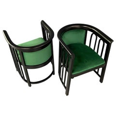 Josef Hoffman Pair of Secessionist Bentwood Arm Chairs for J & J Kohn
