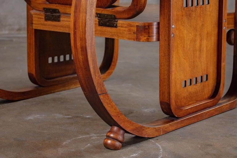 Austria: Josef Hoffman Sitzamaschine Chair, 1900s, Signed  Sitzamaschine means