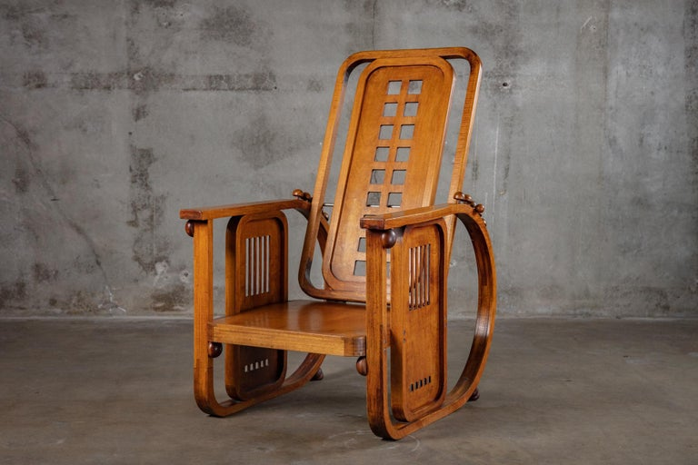 Art Deco Josef Hoffman Sitzamaschine Chair For Sale