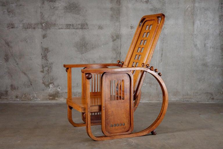 Austrian Josef Hoffman Sitzamaschine Chair For Sale