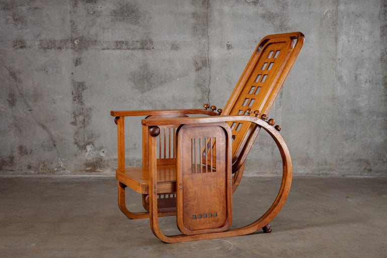 Josef Hoffman Sitzamaschine Chair In Fair Condition For Sale In Los Angeles, CA