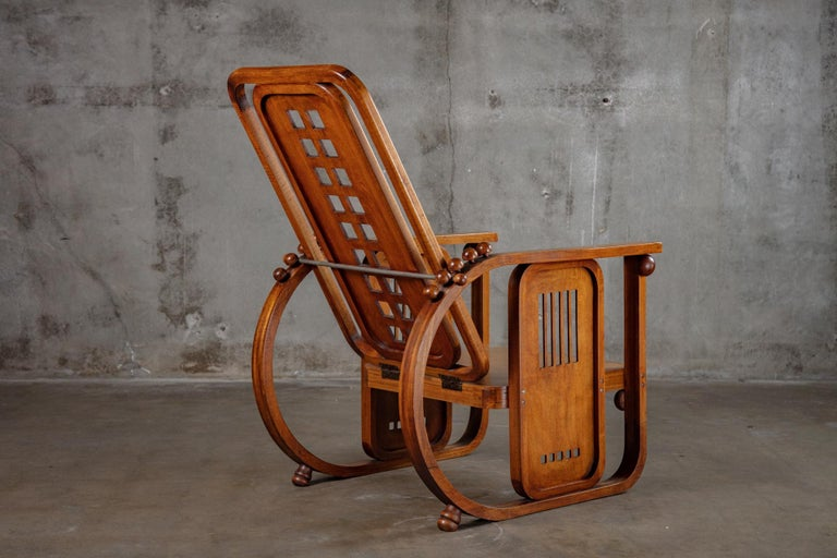 20th Century Josef Hoffman Sitzamaschine Chair For Sale