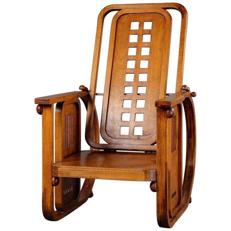 Josef Hoffman Sitzamaschine Chair For Sale