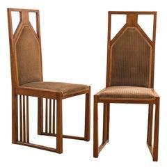 Josef Hoffmann attr. Pair of extraordinary chairs 1905-10 Jugendstil Art Nouveau