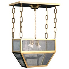 Josef Hoffmann Attributed Vienna Secession Jugenstil Pendant /Chandelier
