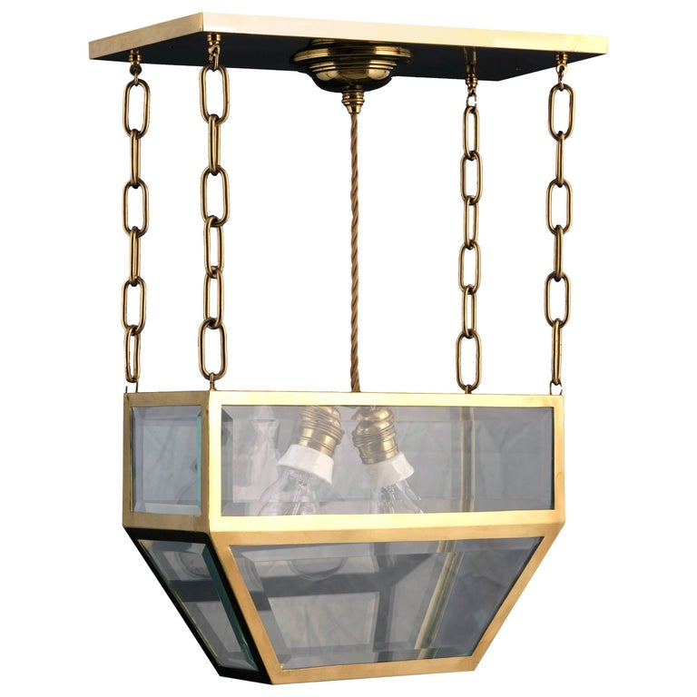 Josef Hoffmann Attributed Pendant Chandelier by Woka, Vienna For Sale