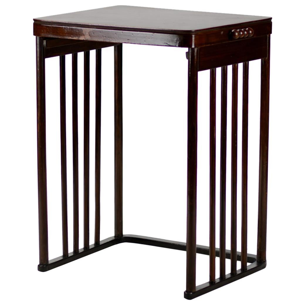 Josef Hoffmann Beech Side Table, J&J. Kohn Model No. 986, circa 1905