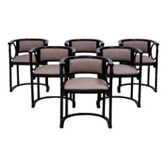 Josef Hoffmann by Wittmann Bentwood Dining Chairs, Set of 6