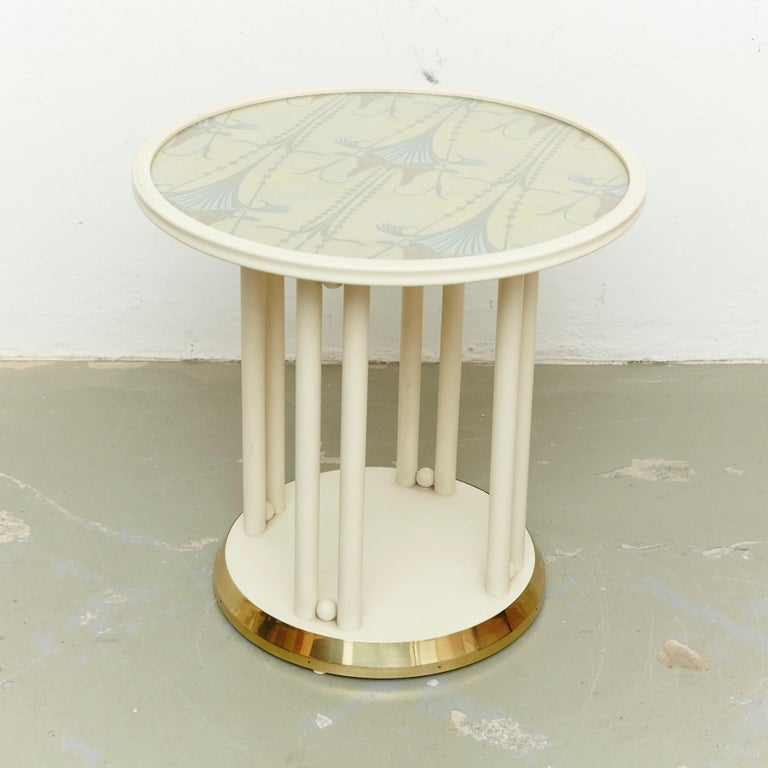 Mid-Century Modern Josef Hoffmann Cabaret Fledermaus White Table For Sale