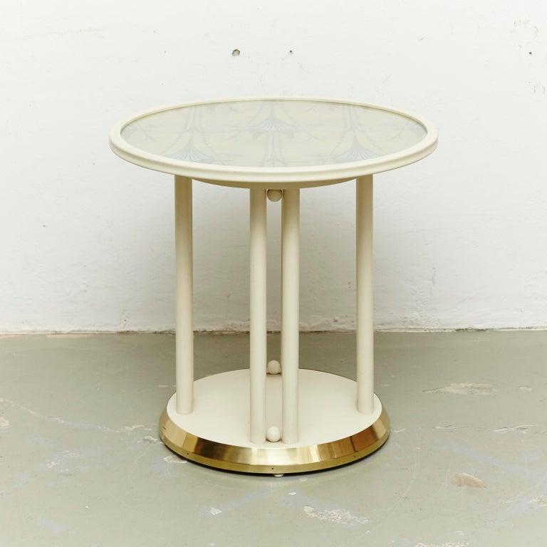 Austrian Josef Hoffmann Cabaret Fledermaus White Table For Sale