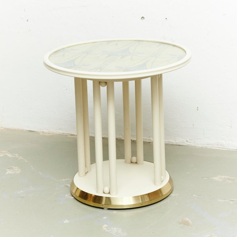 Josef Hoffmann Cabaret Fledermaus White Table In Good Condition For Sale In Barcelona, Barcelona
