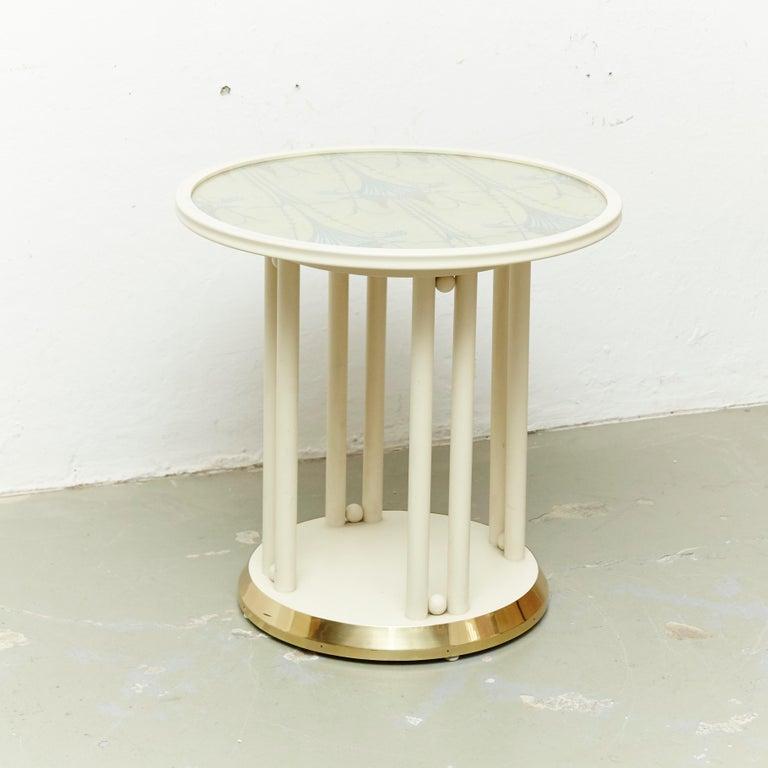 Upholstery Josef Hoffmann Cabaret Fledermaus White Table For Sale