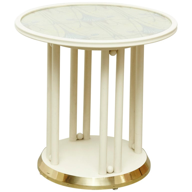 Josef Hoffmann Cabaret Fledermaus White Table For Sale