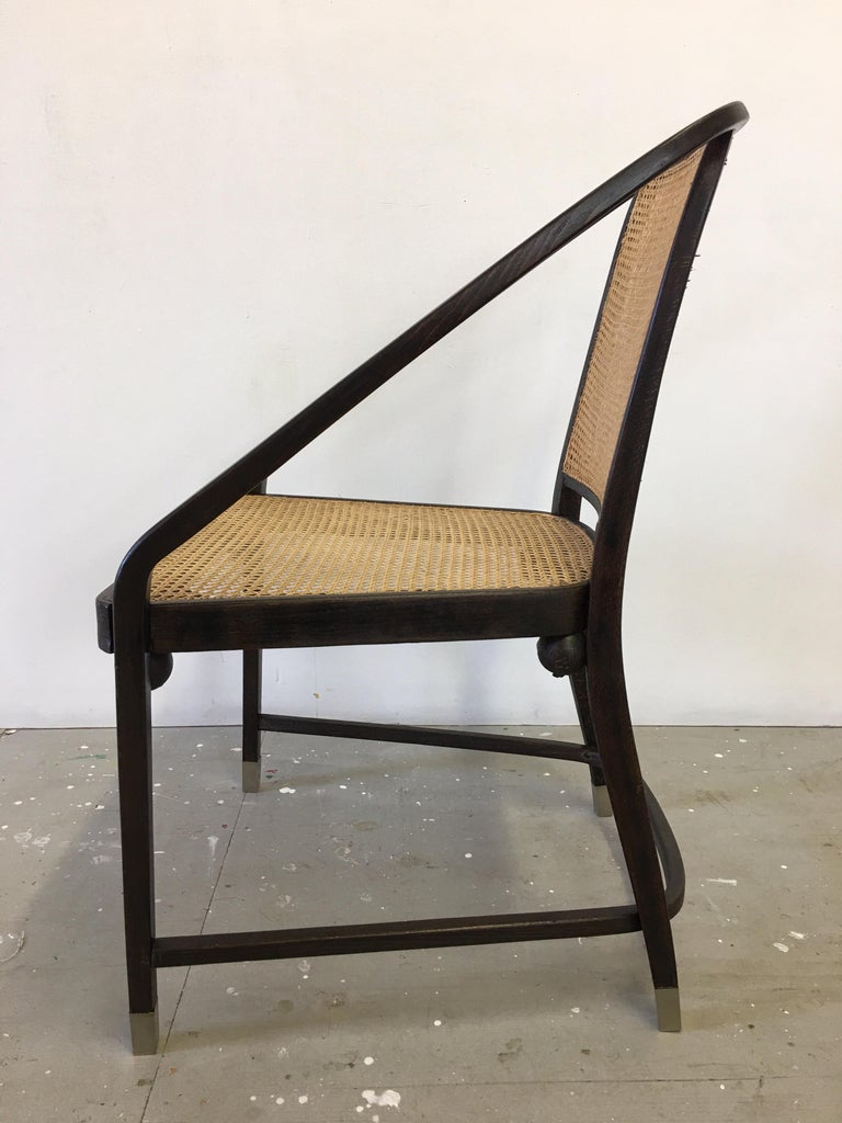 Josef Hoffmann Chair for Jacob and Josef Kohn Furniture In Good Condition For Sale In Philadelphia, PA