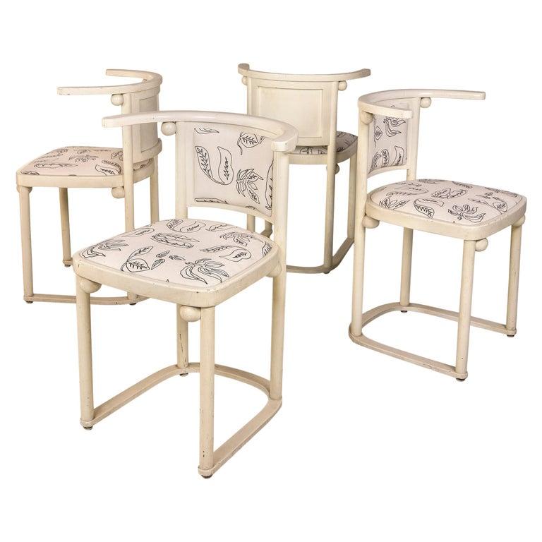 Josef Hoffmann Chairs for Thonet, circa 1910, Austria For Sale