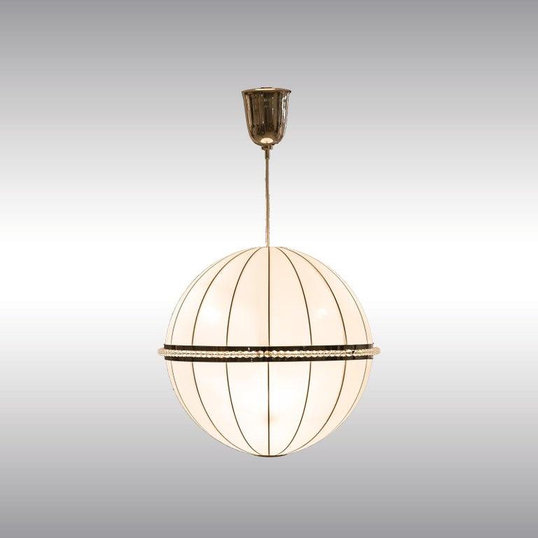 Contemporary Josef Hoffmann Silk/Brass Chandelier 1908 originally for the Wiener Werkstätte  For Sale