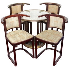 "Josef Hoffmann ""Fledermaus"" Bat Seating Group, Suite, Thonet, Art Nouveau, Deco"