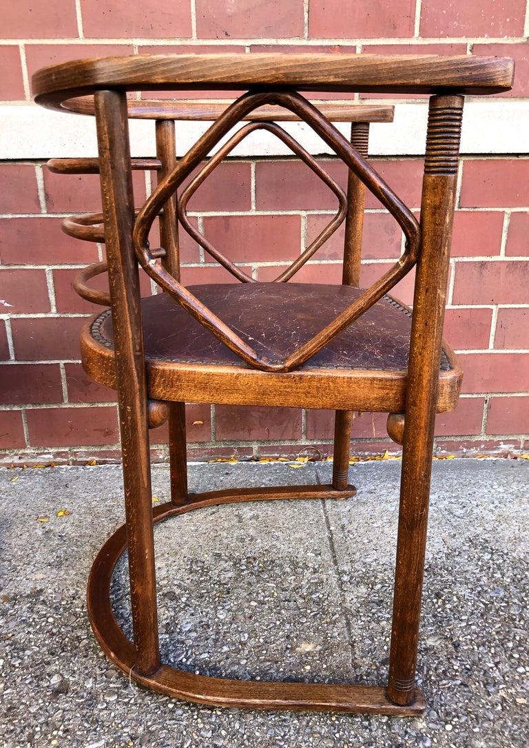 Caning Josef Hoffmann Fledermaus Chairs for J & J Kohn For Sale