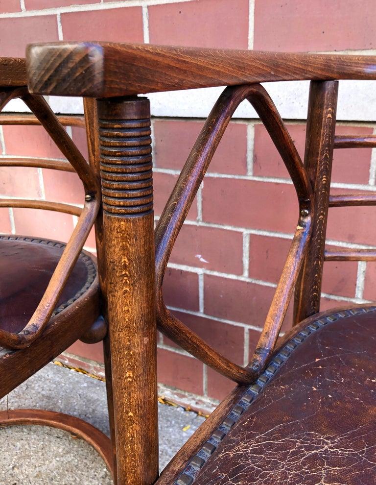 Josef Hoffmann Fledermaus Chairs for J & J Kohn In Good Condition For Sale In Hudson, NY