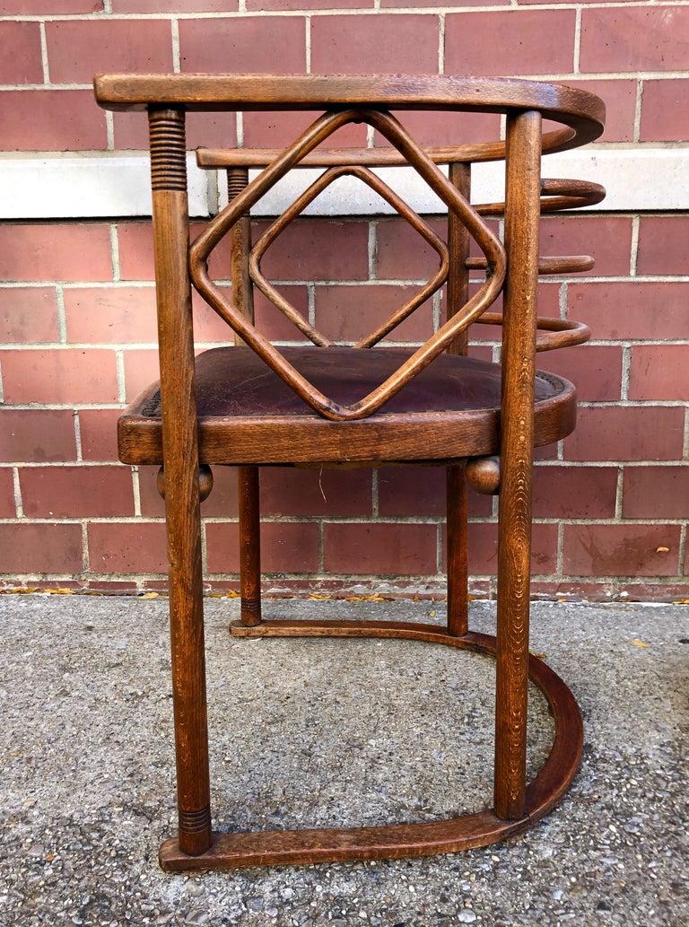 Josef Hoffmann Fledermaus Chairs for J & J Kohn For Sale 1