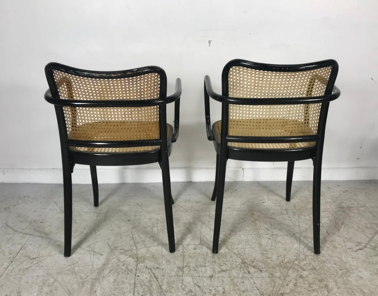 Josef Hoffmann for Stendig Bentwood Cane Dining Chairs, Set of Eight For Sale 1