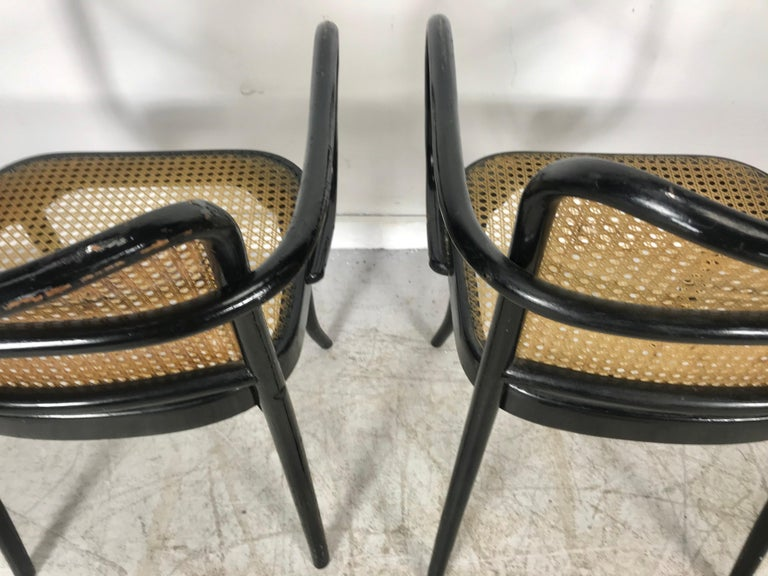 Josef Hoffmann for Stendig Bentwood Cane Dining Chairs, Set of Eight For Sale 2