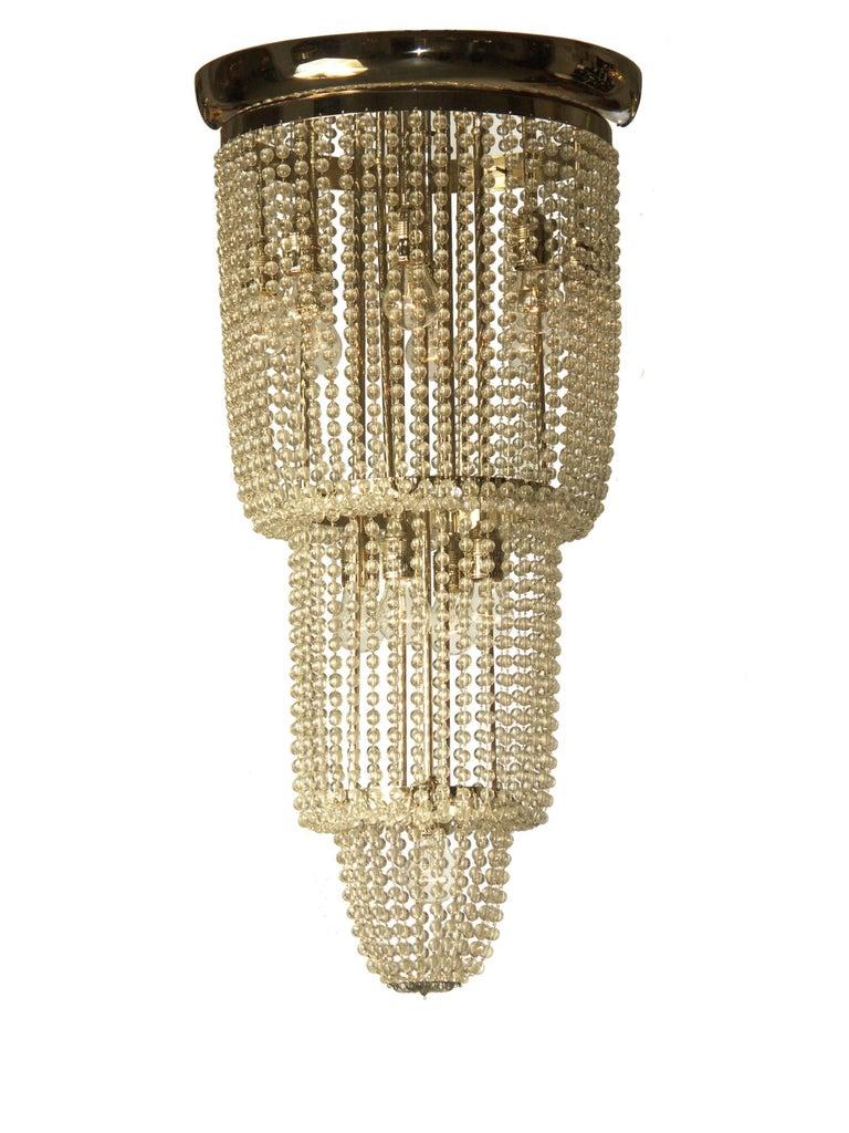 Very elegant crystal-chandelier, the original chandelier is at the Cafe Sabarsky, Neue Galerie, New York.