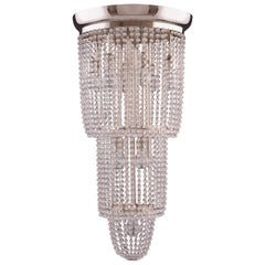 Josef Hoffmann/ Wiener Werkstaette, Crystal Jugendstil  Chandelier Re Edit