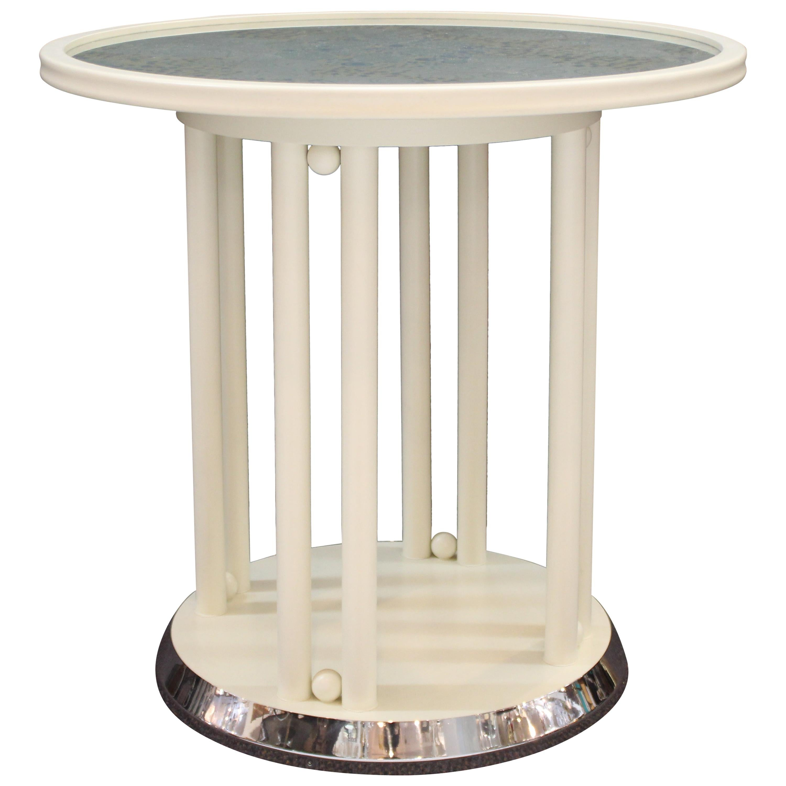 Josef Hoffmann for Wittmann Viennese Secessionist 'Fledermaus' Table in White