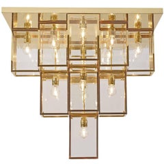 Secessionist Josef Hoffmann House Henneberg Flush Mount Chandelier Re-Edition