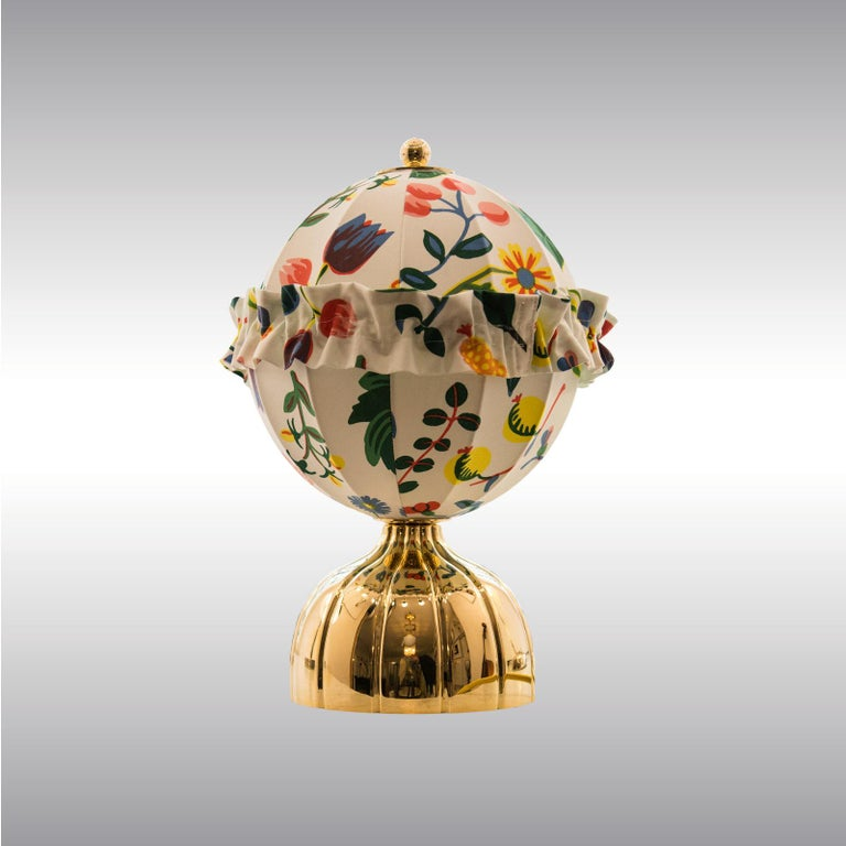 Hand-Crafted Josef Hoffmann & Josef Frank & Wiener Werkstaette Ball Table Lamp re-edition For Sale