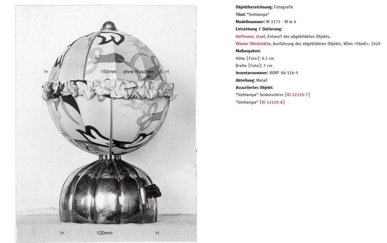 Josef Hoffmann & Josef Frank & Wiener Werkstaette Ball Table Lamp re-edition In New Condition For Sale In Vienna, AT