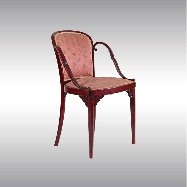 Hand-Crafted Josef Hoffmann & Kohn Jacob & Josef Josef Hoffmann Kohn Chair, 1914, Original For Sale