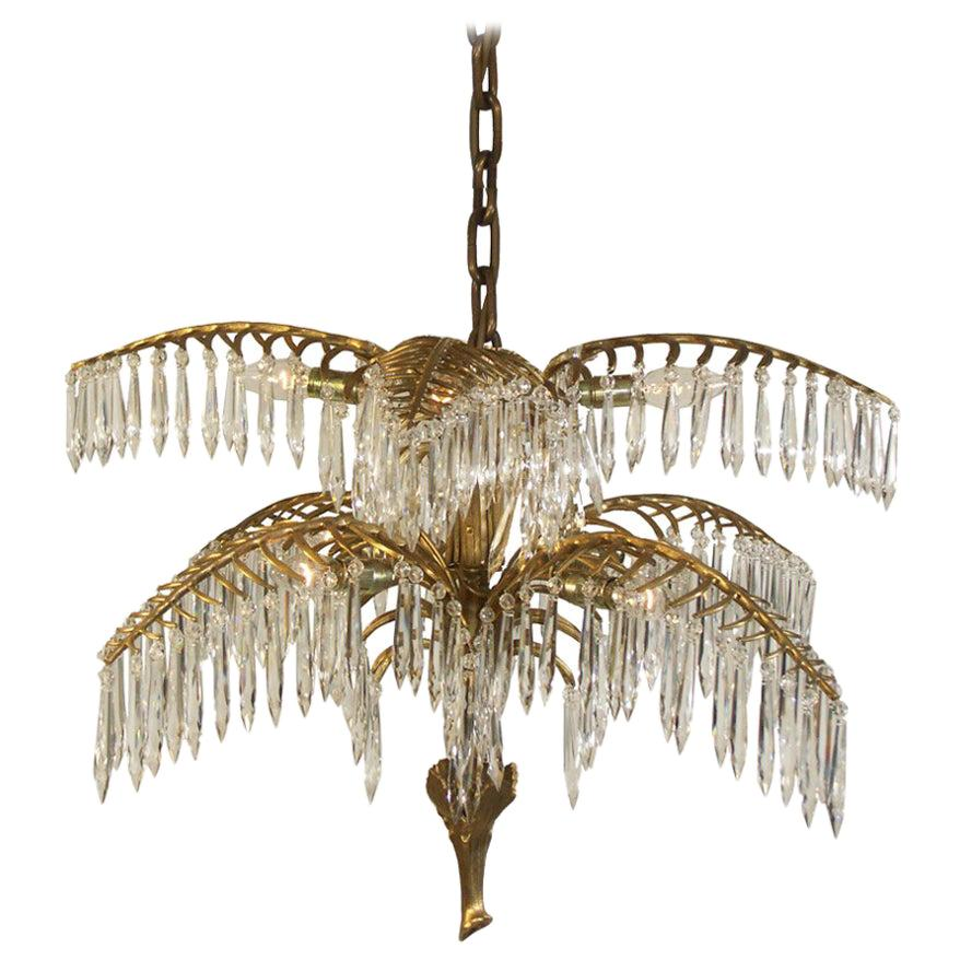"Josef Hoffmann ""Palme Kobe"" Jugendstil Chandelier, Re Edition"