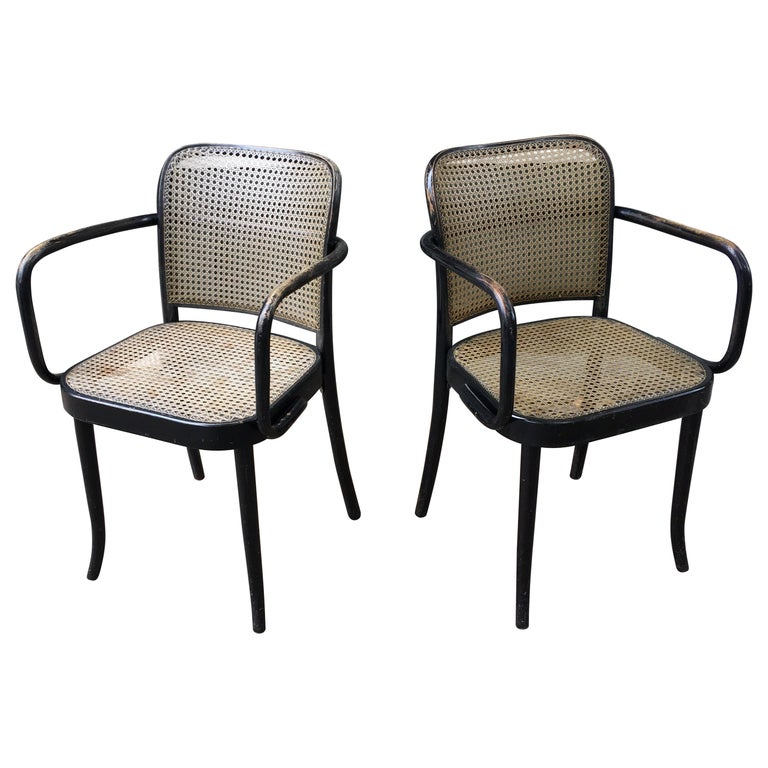 Josef Hoffmann Prague 811 Armchairs by Stendig For Sale