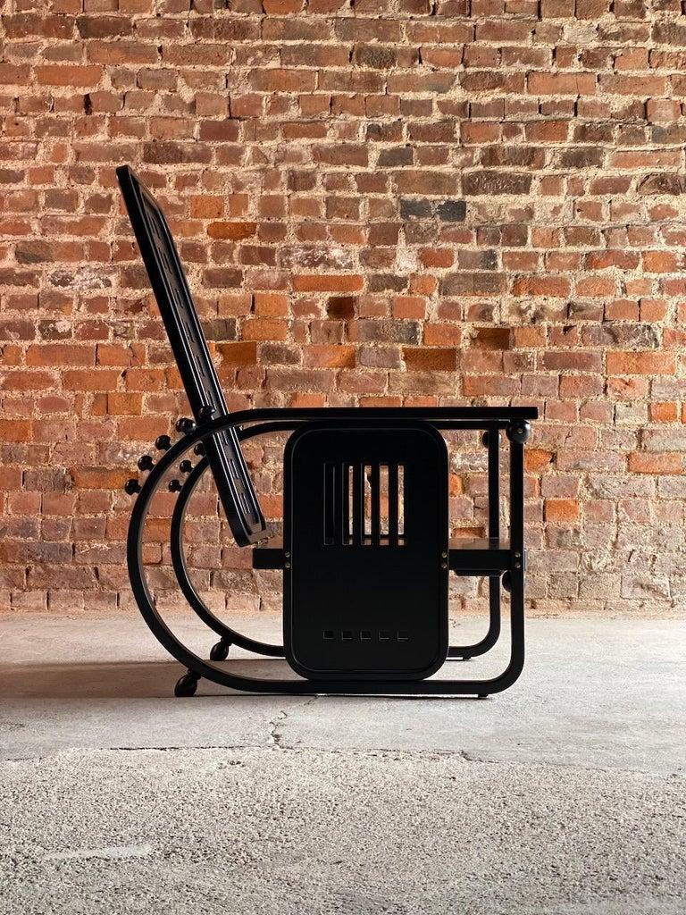 Josef Hoffmann Sitzmaschine Armchair by Wittmann Furniture, Vienna, circa 1980 For Sale 3