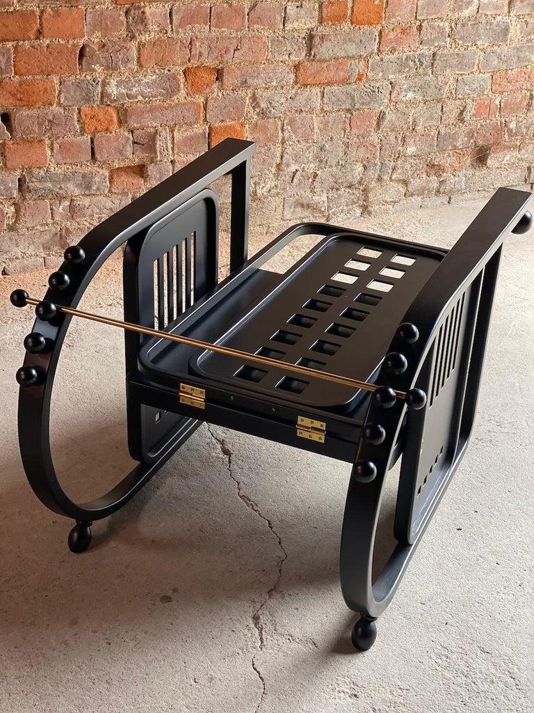 Vienna Secession Josef Hoffmann Sitzmaschine Armchair by Wittmann Furniture, Vienna, circa 1980 For Sale