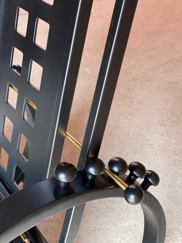 Blackened Josef Hoffmann Sitzmaschine Armchair by Wittmann Furniture, Vienna, circa 1980 For Sale
