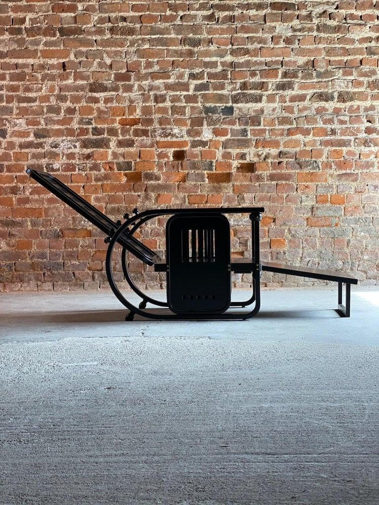 Ash Josef Hoffmann Sitzmaschine Armchair by Wittmann Furniture, Vienna, circa 1980 For Sale