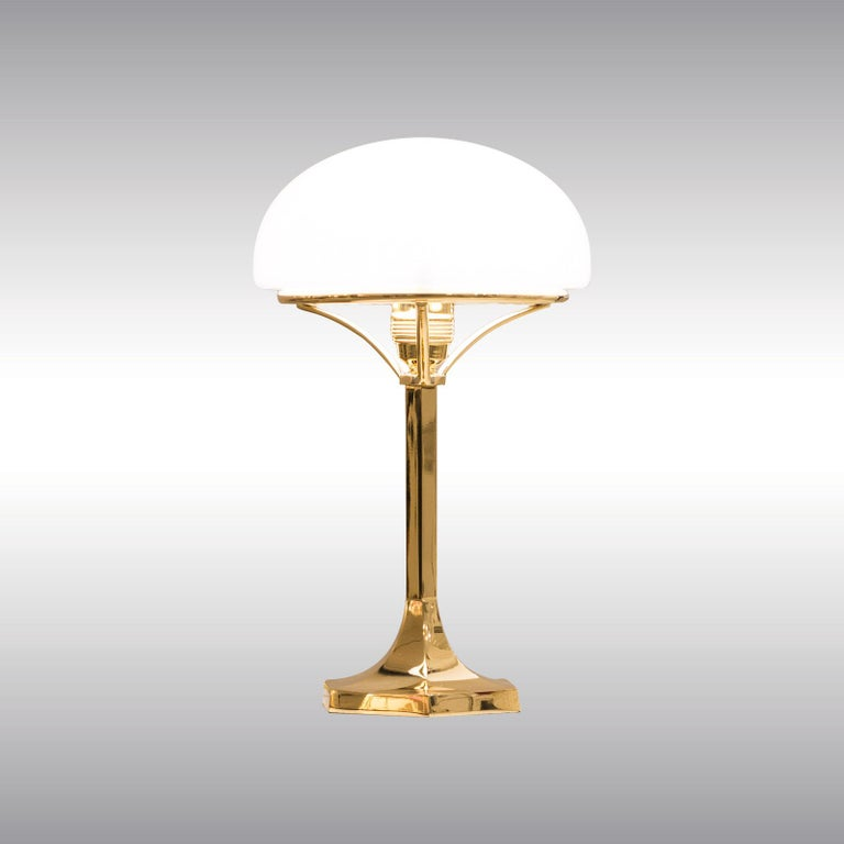 Jugendstil Josef Hoffmann Table Lamp 1901 Early 20th Century Re-Edition, Woka Lamps Vienna For Sale