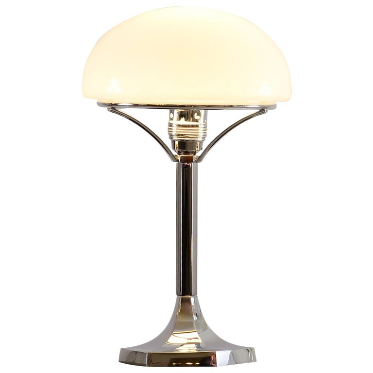 Josef Hoffmann Table Lamp 1901 Early 20th Century Re-Edition, Woka Lamps Vienna For Sale